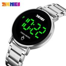 SKMEI cyfrowy zegarek sportowe męskie zegarki luksusowe marki ze stali nierdzewnej mężczyzn zegarek LED wyświetlacz elektroniczny zegarek bransoletka