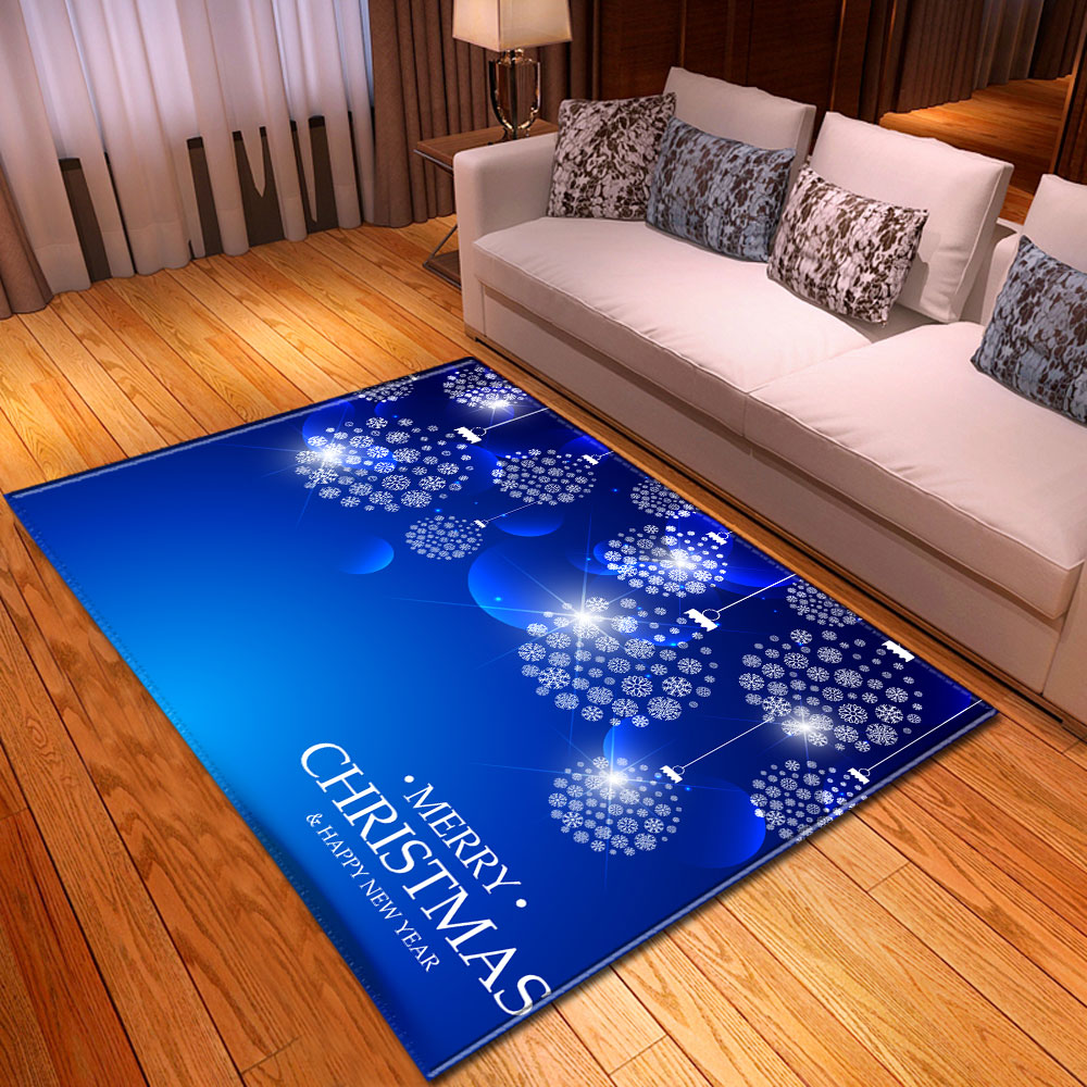 Modern Xmas Snowflakes Carpet Flannel Dining Room Mat Home Decor Bedroom Area Rug Christmas Blue Rug Carpet For Living Room Carpet Aliexpress