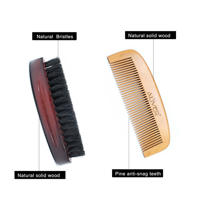 Newly Men Beard Care Grooming Trimming Kit Unscented Beard Conditioner Oil Mustache for Shaping Growth CTN88 6