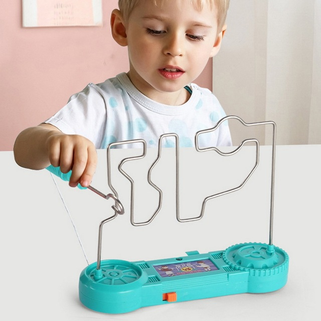 Kids Collision Electric Shock Toy Education Electric Touch Maze Game Party Funny Game Science Experiment Toys for Children Gift 1