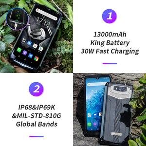 Image 3 - Blackview BV9100 6.3 FHD + 13000mAh IP68 wytrzymały smartfon 4GB 64GB Helio P35 Octa Core Android9.0 telefon komórkowy 30W szybkie ładowanie