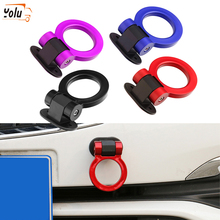 YOLU Car Trailer Hooks Sticker Decoration Auto Rear Front Simulation Racing Ring Vehicle Towing Hook Cars Styling