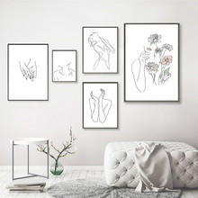 Abstract art portrait decorative painting simple Nordic art living room study bedroom painting posters can be customized