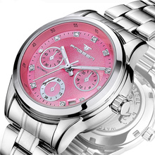 FNGEEN Brand Women Automatic Self-wind Watch Cute Ladies Pin