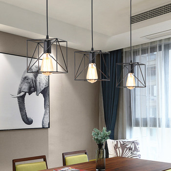 LED Pendant Light Nordic Retro Originality Hanging Lamp Industrial wind Loft Restaurant Kitchen Iron Art Lighting Fixtures 2  Home H9a77a9add7f640008c029a9b686622bax
