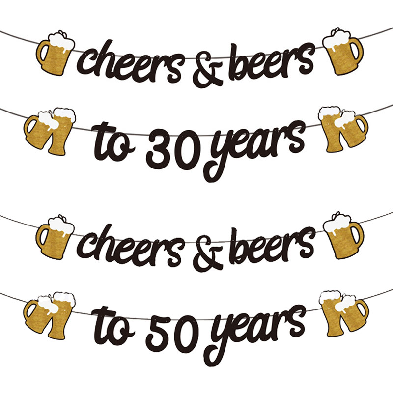 1 комплект для взрослых и детей; Пижама с днем рождения золотистый и черный баннер ура пиво-21 30 40 50 60 лет баннеры для дня рождения 30 40 50th вечерн...