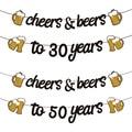 1 комплект для взрослых, с днем рождения, золотой, черный, баннеры для празднования дня рождения, 21, 30, 40, 50, 60 лет, баннеры для дня рождения, 30, 40,...