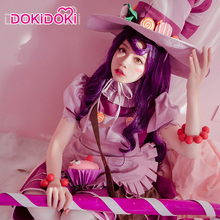 DokiDoki Game League of Legends Lulu Cosplay LULU Candy Witch Costume Women Halloween