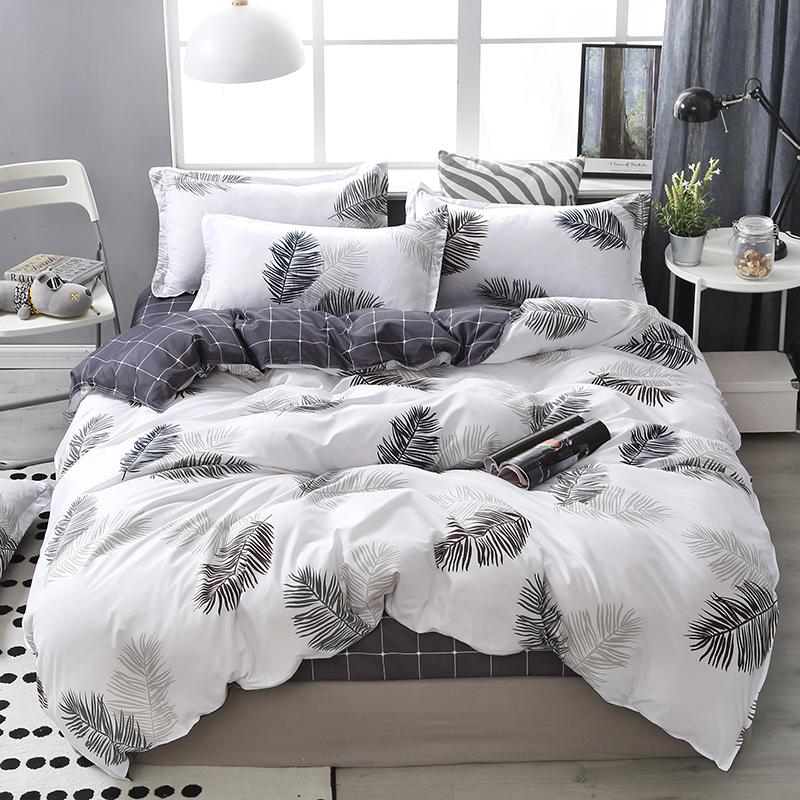 Lanke Cotton Bedding Sets, Home Textile Twin King Queen Size Bed Set Bedclothes with Bed Sheet Comforter set Pillow case