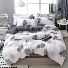Juegos de cama de algodón Lanke, textiles para el hogar, juego de cama doble tamaño King Queen, ropa de cama con juego de edredón sábana, funda de almohada