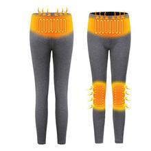 Outdoor Hiking Pants Women USB Heated Pants Winter Sprot Thermal High Waist Legging Warm Camping Climbing Trekking Pants