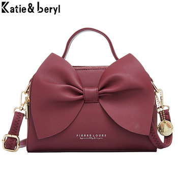 Elegant Women Leather Handbags Female Shoulder Crossbody Bags for High Quality Ladies Messenger Hand Bow NEW