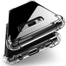 À prova de choque Capa De Silicone Transparente Para Samsung Galaxy S7 borda A5 A7 J5 J7 2017 S8 S9 S10 Plus Nota 9 8 A6 A8 Plus A7 2018 A50 Capa