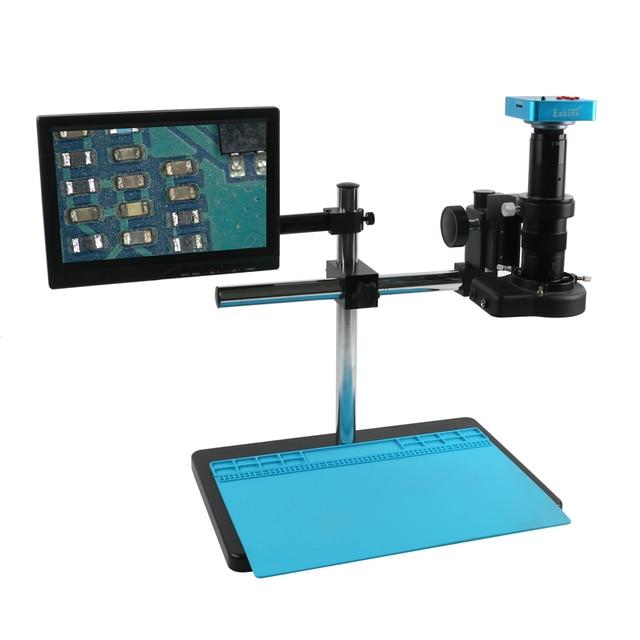 38mp 2k hdmi usb eletrônico industrial digital 180x 300x microscópio de vídeo conjunto câmera fo telefone pcb smd cpu relógio de solda reparação
