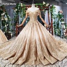 HTL786 Элегантное Длинное Вечернее платье 2020 блестящее с открытыми плечами милое Золотое кружевное вечернее платье элегантные вечерние платья