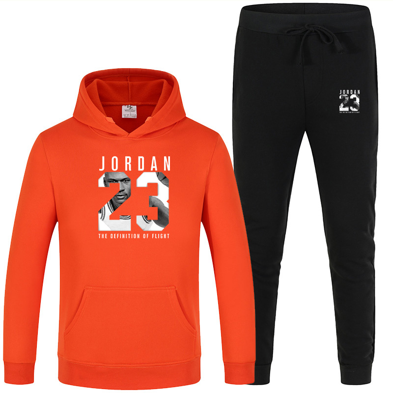 New Men's Hooded Sweater Set White Red Pink Sportswear Pullover Sweater Hoodie + Sweatpants Jogging Men's Pullover 3XL Sports Su 5
