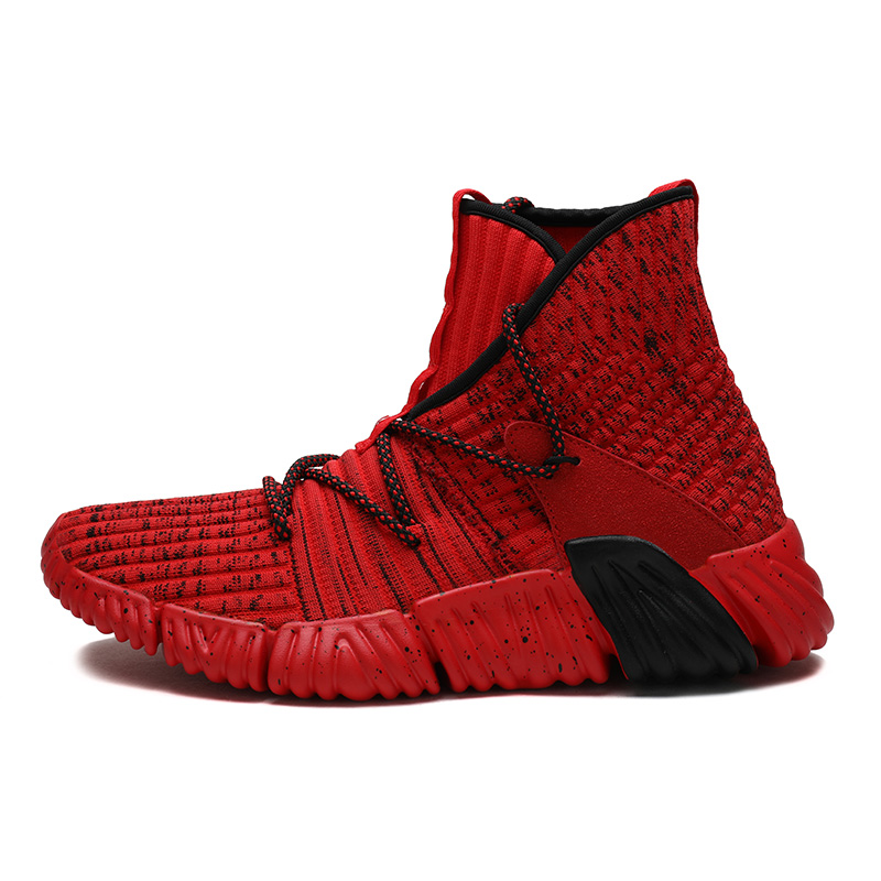 Man High-top Jordan <font><b>Basketball</b></font> Shoes <font><b>Men's</b></font> Cushioning Light <font><b>Basketball</b></font> <font><b>Sneakers</b></font> Anti-skid Breathable Outdoor Sports Jordan Shoes image