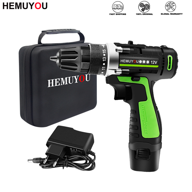 Screwdriver 12V 16.8V Cordless Electric Screwdriver Rechargeable Lithium Battery Dual Speed Cordless Drill Power Tools
