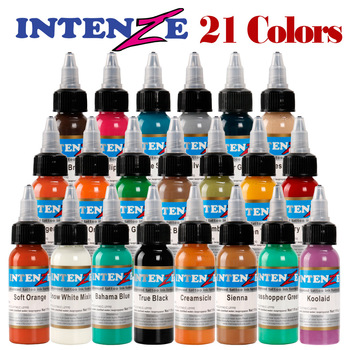 High quality Tattoo Inks Colors 30ml 1OZ Tattoo Pigment Inks Set 21 Colors For Body Tattoo supplies