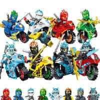 Compatível Lloyd Cole Jay Kai Zane NINJA Dragão Motocicleta Moto Herói Marvel Avengers Brinquedo legoinglys ninjagoingly Blocos Figura