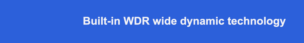 Built-in WDR wide dynamic technology标题