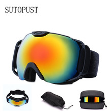 UV400 Protection Skiing Glasses Double-layer Anti-fog Ski Goggles Big Ski Eyewear Snow Ski Snowboard Mask Men Women Winter Sport все цены