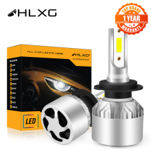 hlxg H4 LED H7 H11 H8 HB4 H1 H3 9005 HB3 Auto S2 Car Headlight Bulbs 72W 8000LM Car Accessories 6500K 4300K 8000K led fog light