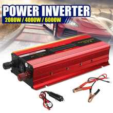 MAX 6000W güneş invertör DC 12V AC 220V/110V modifiye sinüs dalga güç inverteri gerilim dönüştürücü trafo + LCD ekran