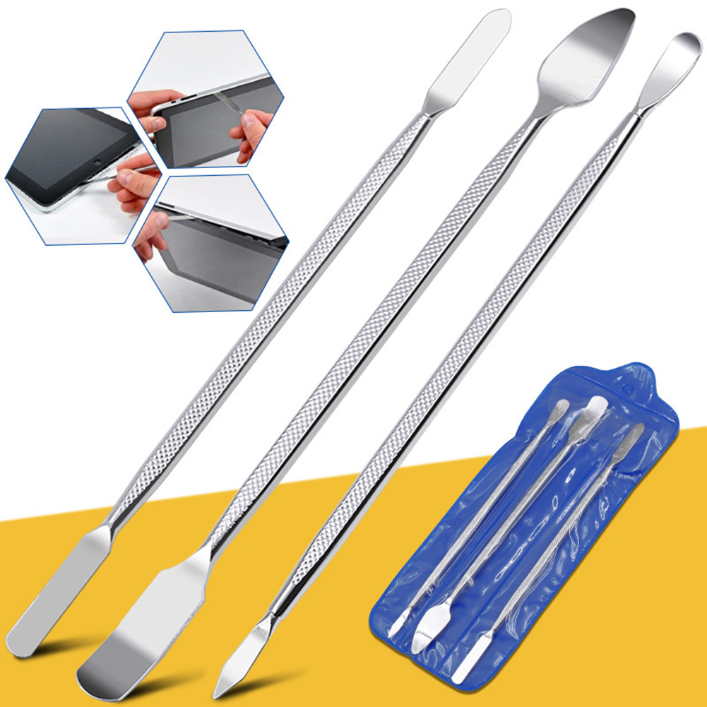 3PCS/Set Metal Spudger Scraper Professional Mobile Phone Tablet PC Metal Disassembly Rods Repairing Tools Set Hand Tool Kit