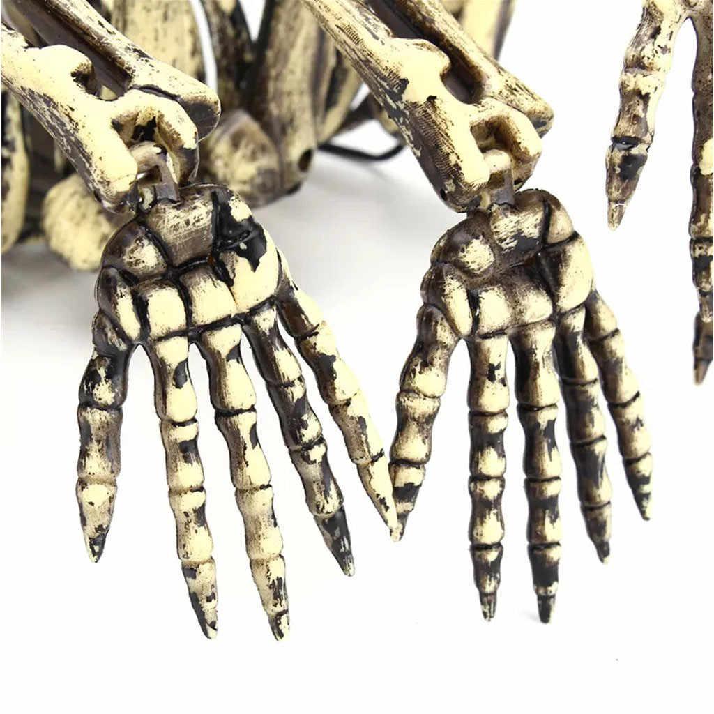 Pesta Halloween Aksesoris Menakutkan Gantung Spider Tengkorak Mengerikan Simulasi Ossature Dewasa Berburu Rumah Dekorasi Prank Alat Peraga