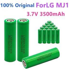 Image 1 - 1 10PCS 100% מקורי MJ1 3.7 v 3500 mah 18650 ליתיום נטענת סוללה עבור פנס סוללות עבור LG MJ1 3500 mah סוללה