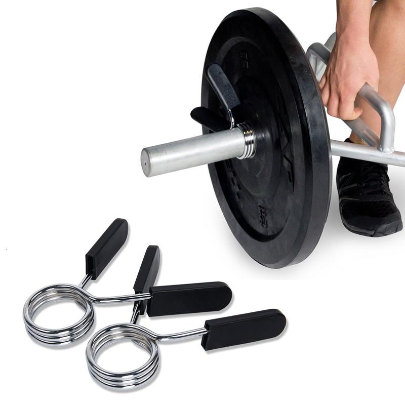 standard weight lifting barbell dumbell bar spin-lock collar clamps DE