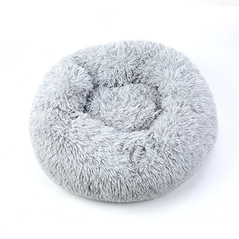 Round Cushion Sofa Bed For Pets. Gray Color