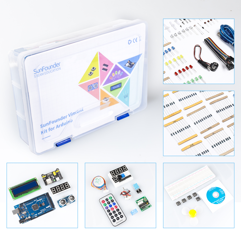 Closeout Deals╛Starter-Kit 2560 Nano Arduino Mega Most-Complete Sunfounder Mega2560-Board Mega328