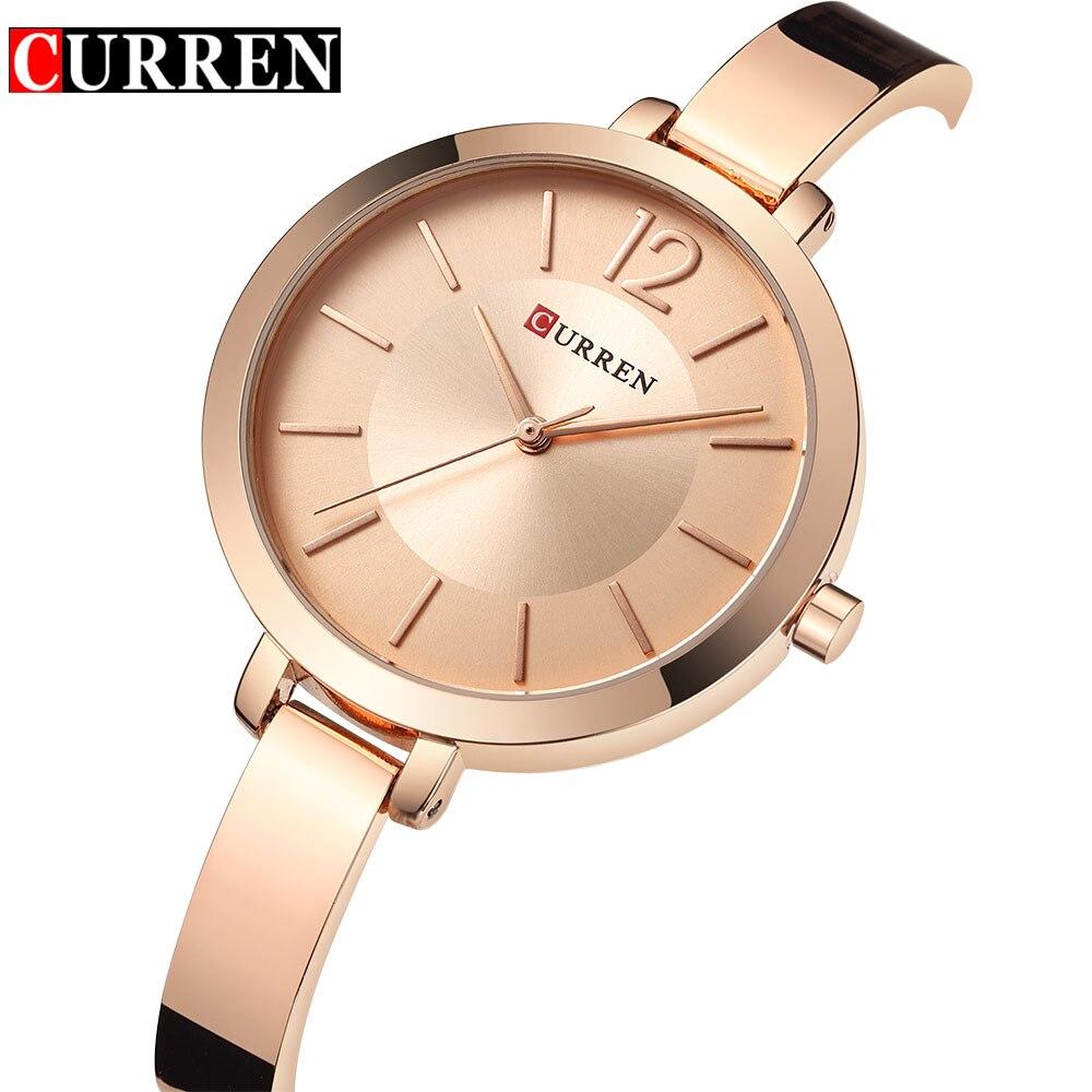 Fashion Luxury Brand Watch Women Quartz Steel Bracelet Lady Quartz Watch Curren Dress Slim Wristwatch Sport Female Relojes Mujer