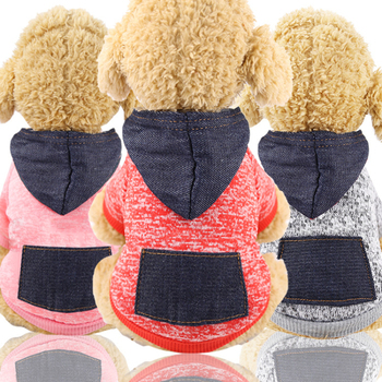 Dog Sweaters Winter Warm Clothing Puppy Small Large Pet Dog Thick Needle Apparel Clothes Wool Hoodie Coat Christmas Costume 2020