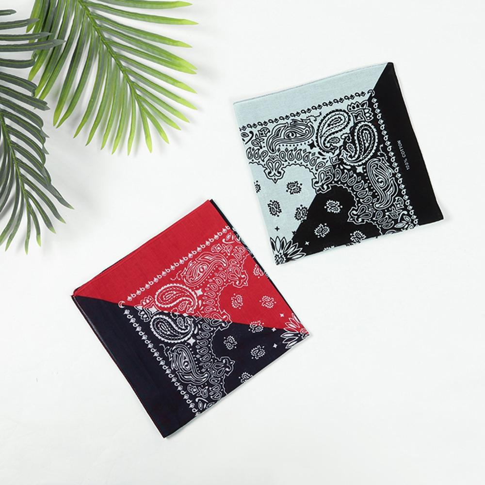 Imixlot Unisex Hip-hop Black Red White Bandanas Fashion Cotton Square Wrist Wrap Multi-function Printed Handkerchief