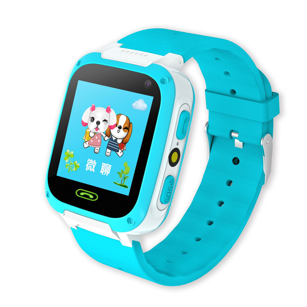 Multifunction Children Smart Watch Phone Waterproof Wristband Sos Lbs Base Station Positioning Kid Cell Phone Anti-Lost Watch