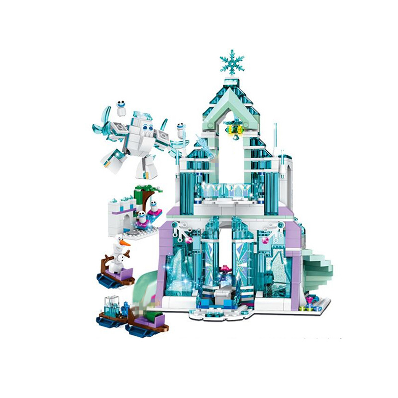 2020 New 41167 41164 Princess Queen Anna Elsa Arendelle Castle Lepining Girl Friends Building Blocks Bricks Kits Toys Gifts image