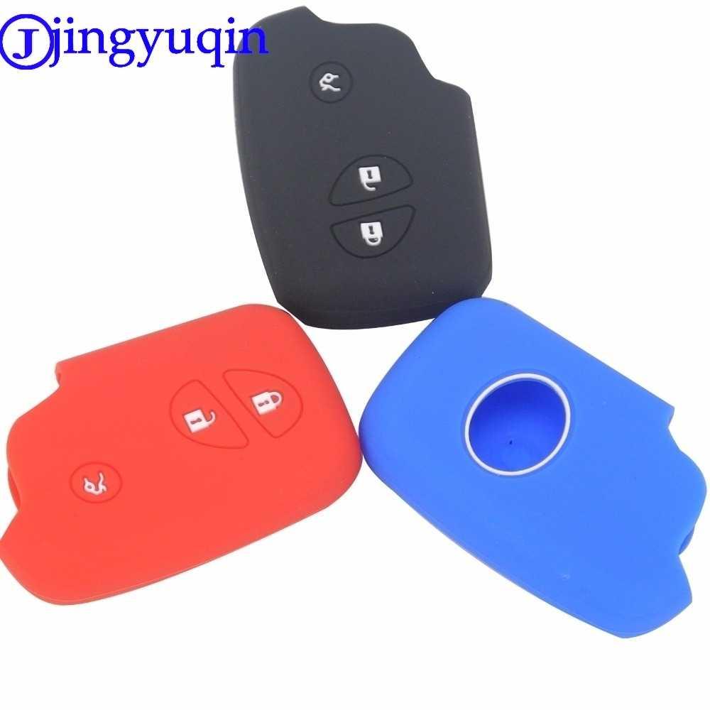 Jingyuqin zdalnego 3 przyciski dla Lexus CT200h ES 300h IS250 GX400 RX270 RX450h RX350 LX570 samochód stylizacji klucz pokrywa silikonowa Case Fob