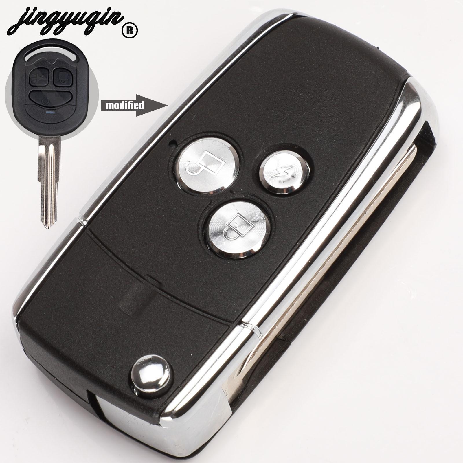 Jingyuqin 4b substituição modificado flip dobrável remoto chave caso escudo para buick excelle hrv fob chave capa