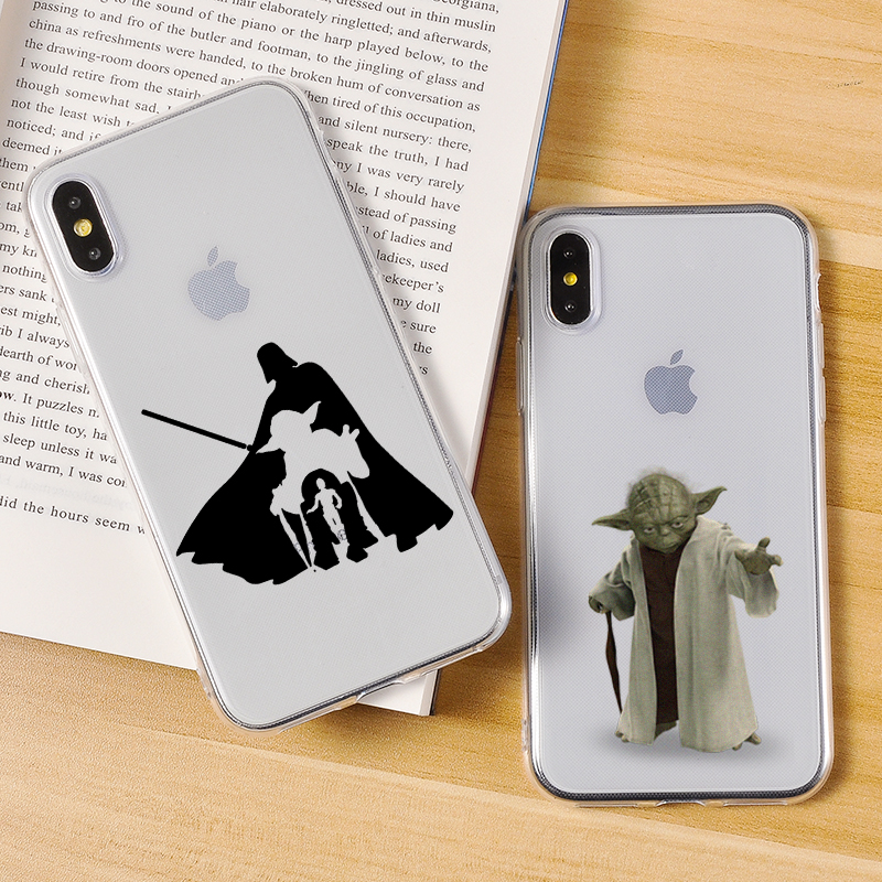 Weiche Silikon Luxus Telefon Fall Für <font><b>iPhone</b></font> 11 <font><b>X</b></font> <font><b>XS</b></font> XR <font><b>XS</b></font> Max 8 7 6 6S Plus Fall transparent Star Wars Cartoon Weiche Rückseitige Abdeckungen image