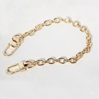 Modna dekoracja 8mm łańcuszki krótkie 25cm 30cm złote łańcuchy do zakładania wdzięki krótki złoty łańcuch torby na DIY Charms tanie i dobre opinie Metal CN (pochodzenie) 20g-30g (Approx) Ornament