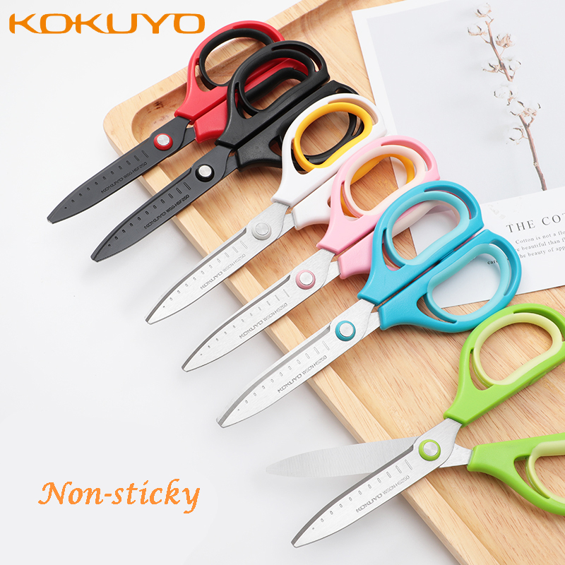 1pc KOKUYO WSCN-HS250 Air Scissors AIRO FIT SAXA Adult Hand Craft Scissors Fluoride Anti /Anti-stick Glue Save Effort Supplies