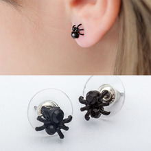 Black Lovely Spider Ear Studs for Lady Girls Cute Insect Cuff Earring 2019 Fashion Jewelry Party DIY Decoration Home Decor WD583