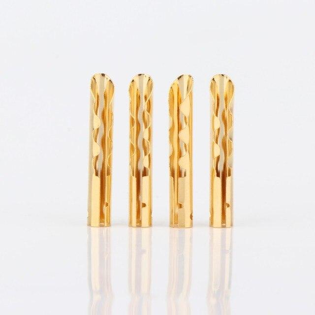 موصل كابل مكبر صوت BA1421 ، نحاس ذهبي ، نوع Z BFA ، قابس موز 4 مللي متر ، 20 قطعة