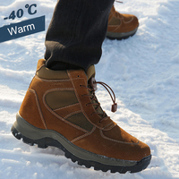 Men winter boots 2020 genuine leather winter shoes warm 100% wool men snow boots non-slip waterproof out door shoes