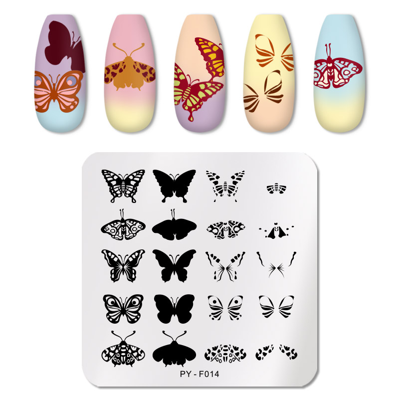 PICT YOU 12*6cm Nail Art Templates Stamping Plate Design Flower Animal Glass Temperature Lace Stamp Templates Plates Image 14