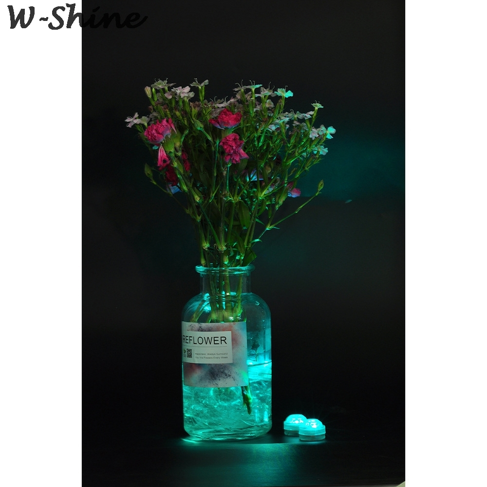 submersível bateria operado lâmpada noite subaquática vaso