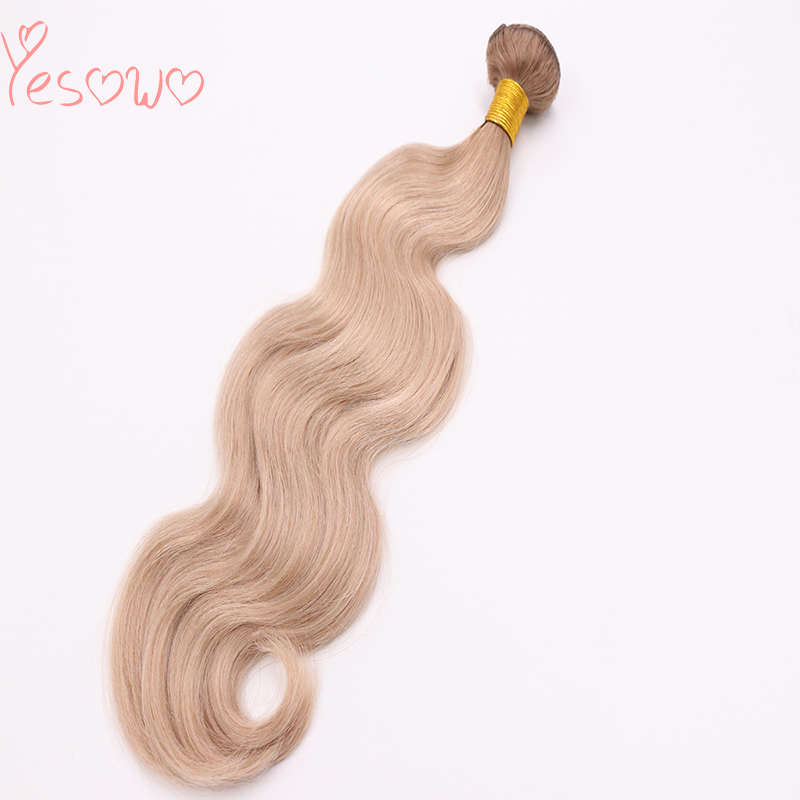 Yesowo High Quality Cheap 12-24Inch 100g BB# Ombre Remy Hair Blonde Brazilian Body Wave Extensions Human Hair Bundle Hair Weft